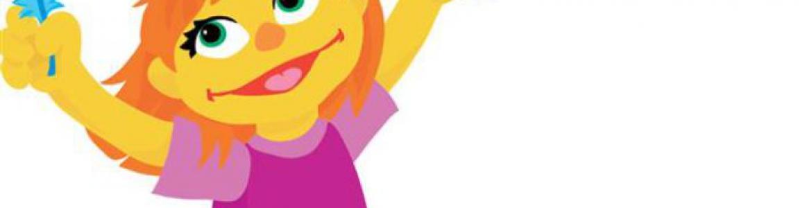 Autistisch meisje in Sesamstraat
